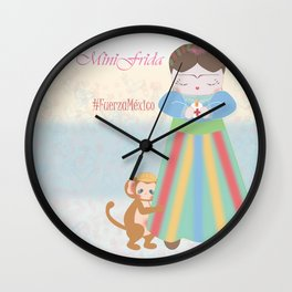 Fuerza Mexico by Mini Frida Wall Clock