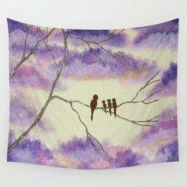 A Mothers Blessings, Birds in Tree Wall Tapestry