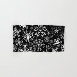 Symbols in Snowflakes on Black Hand & Bath Towel