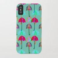 umbrella iPhone & iPod Cases featuring Umbrella  by Ingrid Castile