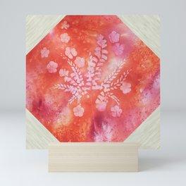 Orange Maidenhair and Flowers Sunprint Trellis Mini Art Print