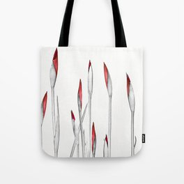 Red and White Spring Tote Bag