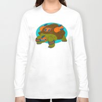 tortoise Long Sleeve T-shirts featuring Tortoise by subpatch