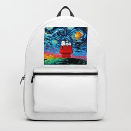 snoopy peanuts starry night Backpack