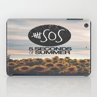 5 seconds of summer iPad Cases featuring 5 seconds of summer sunflowers by Rose