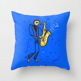 Saxman Throw Pillow
