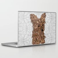 yorkie Laptop & iPad Skins featuring Cute Yorkie by ArtLovePassion