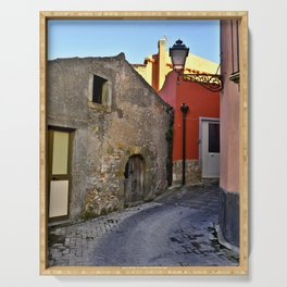 Medieval village of Sicily Serving Tray