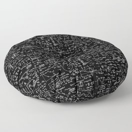 Physics Equations on Chalkboard Floor Pillow
