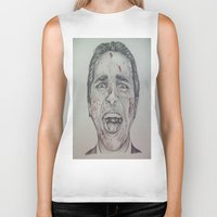 american psycho Biker Tanks featuring American Psycho by A.H.