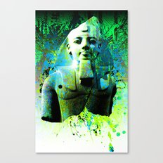 Egyptian display of green Canvas Print