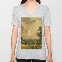 "John Constable ""English Landscape"" Unisex V-Neck"