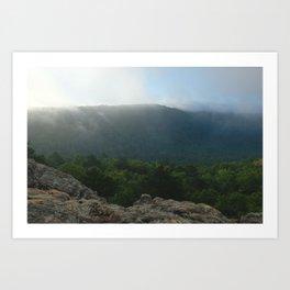 Morning Fog in the Boston Mountains Art Print