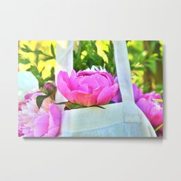 A Feast of Peonies Metal Print