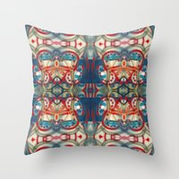 Throw Pillows featuring Graffiti Reflection by Lisann