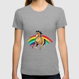 Cute Rainbow Horse for Horse Lovers T-shirt