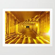 Gold way Art Print