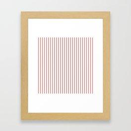 Camellia Pink Pinstripe on White Framed Art Print