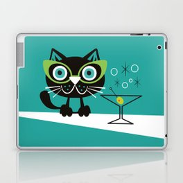1950s Swank Mid Century Modern Martini Cocktail Kitty Cat Laptop & iPad Skin