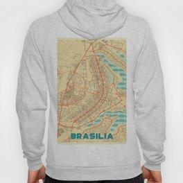 Brasilia Map Retro Hoody