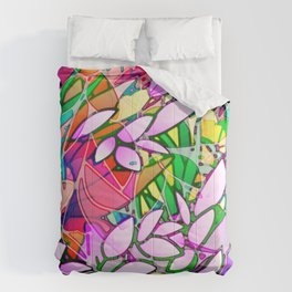 Grunge Art Floral Abstract G130 Comforters