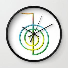 Cho-Ku-Rei - Reiki-Symbol Wall Clock