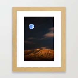 Full Moon Over Kurdistan Plato 1 Framed Art Print