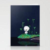 kodama Stationery Cards featuring Kodama by Jose Campa