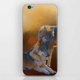 Autumn Wolves iPhone Skin