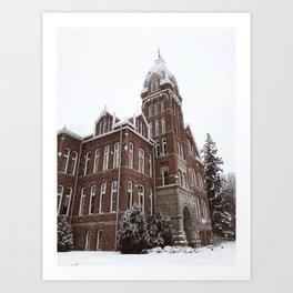 White Christmas in the Burg Art Print