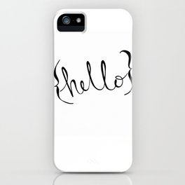 {hello} iPhone Case