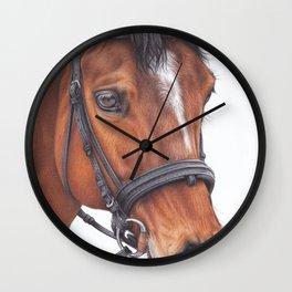 Horse colored pencils drawing Wall Clock