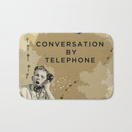 Conversation by Telephone Bath Mat