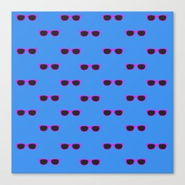 Glasses, blue Canvas Print