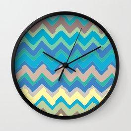 NY Pastel chevron Wall Clock