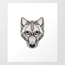Edges (Wolf) Art Print