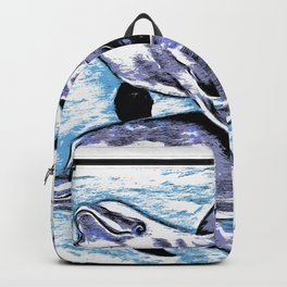 Dolphins In Blue Purple Backpack