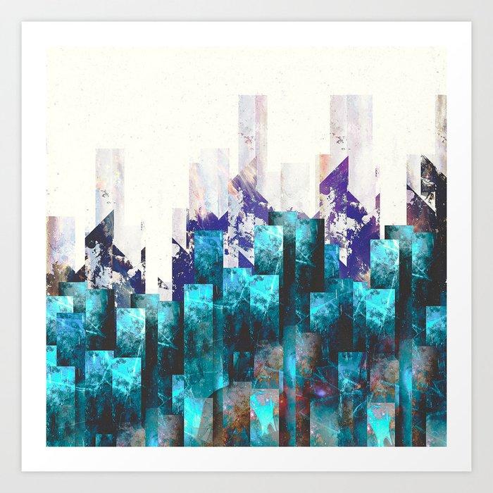 Cold cities Art Print