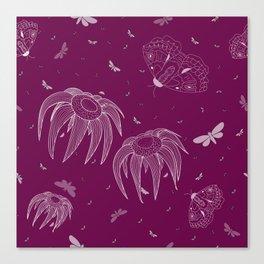 Jellyfish flowers Canvas Print