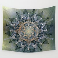chakra Wall Tapestries featuring Heart Chakra by brenda erickson
