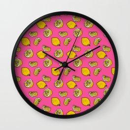 Retro Lemon Pop Wall Clock