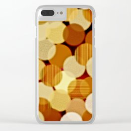 Fluffy Dots Clear iPhone Case