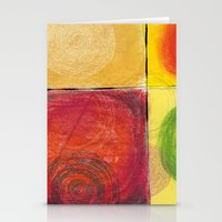 kandinsky Stationery Cards featuring Colourful pastel work kandinsky inspired by Easyposters