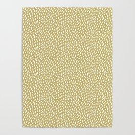 Trombone, brush strokes, minimal, polka dot, spots, mid century, abstract, pattern Poster