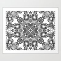 snowflake Art Prints featuring Snowflake   by ArtLovePassion