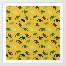 Capuchin monkeys pattern Art Print