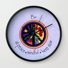 Peace Within Without Wall Clock