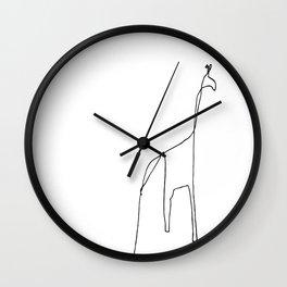 Line Giraffe Wall Clock