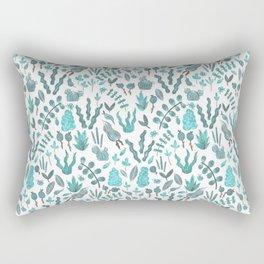 blue succulents Rectangular Pillow