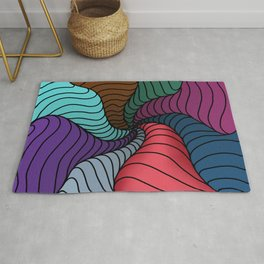 Colourful abstract artwork - doodling style Rug